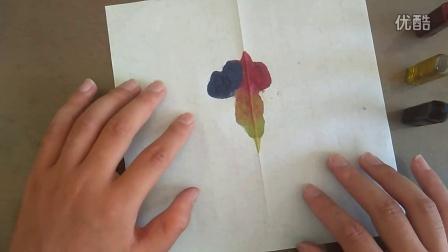 色彩滴染人美版三上跟李老师学画画不能用手指直接摸学具袋的彩笔水