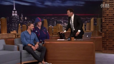 Michael Phelps Gets a Life-Size Cutout of His Angry Olympic Face - Tonight Show