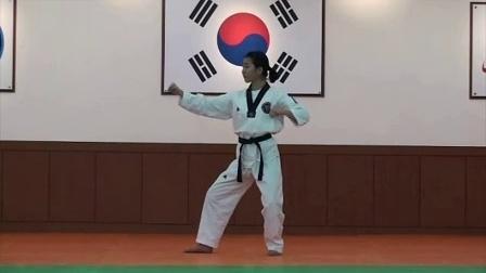 跆拳道品势指导法03太白_标清