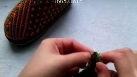 [珍珍毛线编织]第50集小兔子花拖鞋编织视频下集._高清_标清