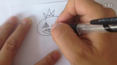 金龙手绘:简笔画万圣节卡通南瓜鬼怪
