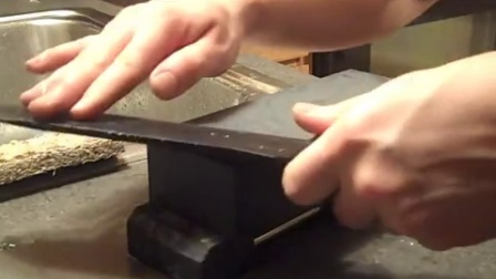 Sharpening a big knife- Becker BK9(part 1)