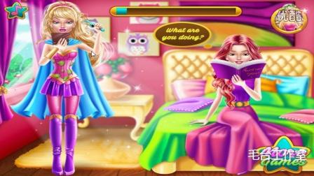 芭比偷偷化妆化妆小游戏  芭比公主礼服  芭比娃娃化妆  白雪公主化妆