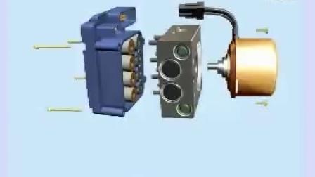 大众车系\ABS系统\结构总成\液压单元总成