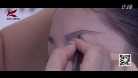 西安化妆美甲学校 兰梦网上教学视频 各种眉型的画法 兰梦美业