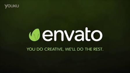 马赛克拼图效果E3D动画元素片头logo演绎视频制作源文件AE模板