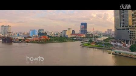 航拍 越南 胡志明市 城市风光