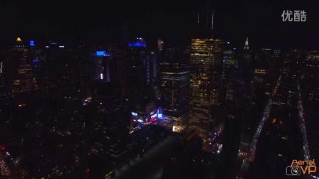 航拍 纽约城市夜景 4k