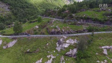 航拍 挪威 飞跃迷人的国家