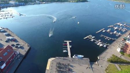 航拍 挪威 莫斯市 去看看,港口城市风光