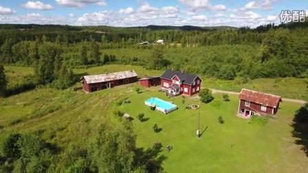 航拍 瑞典 森林 自然风光