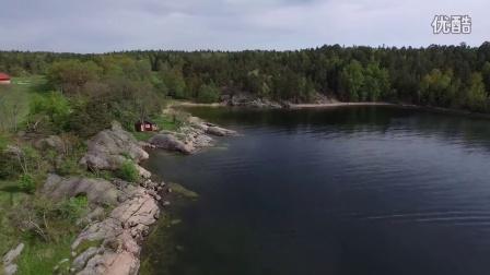 航拍 瑞典 斯德哥尔摩 海湾度假 风光