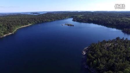 航拍 瑞典 斯德哥尔摩 海边旅游风光