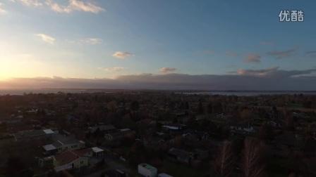 航拍 丹麦 空中 城市风光