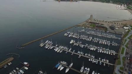 航拍 丹麦 奥本罗 城市风光