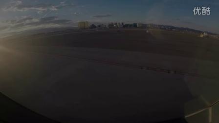 日落美景 A330-200 Leaving Las Vegas - Great Sunset Views!