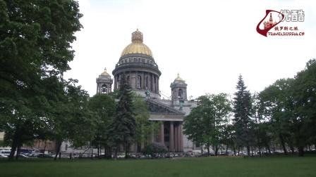 圣彼得堡。圣以撒大教堂。视频短片