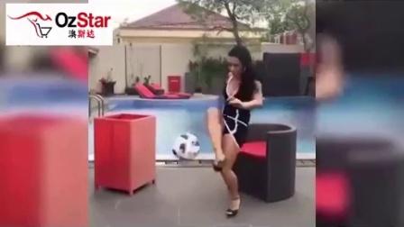 兖矿澳斯达|美女踢起足球来不亚于男人