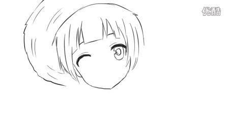 [小林简笔画]如何绘画可爱的戴草帽小女孩卡通动漫简笔画