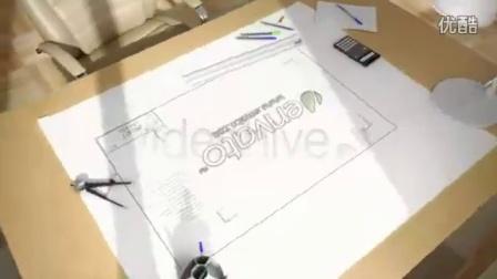 建筑设计规划图纸公司logo演绎,设计 logo高清实拍视频素材来自西橘网