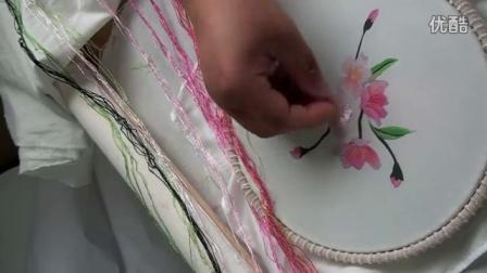 金吴针 苏绣diy套件一对一教学视频 桃花