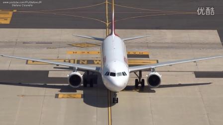机场纪实塔台视角罗马菲乌米奇诺机场实录