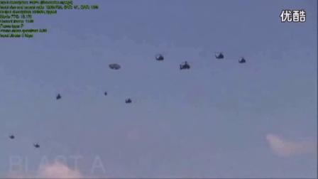十架直升机与一架飞碟UFO并肩飞行!00_标清