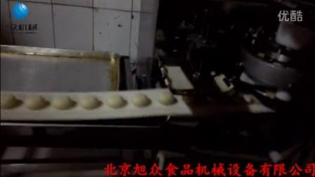 三段酥饼机(绿豆饼)生产过程  全自动酥饼机,制作烧饼机厂家