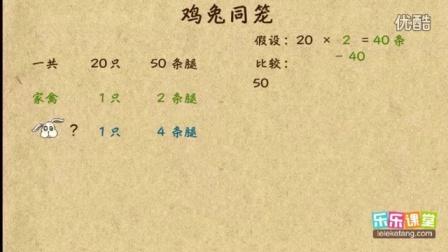 小学奥数三年级应用题(III)6. 三个对象的鸡兔同笼一