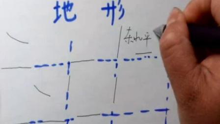 画简图法学习中国的地形区
