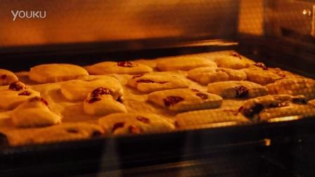 烤箱里的蔓越莓曲奇 延时摄影