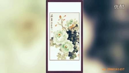 国画牡丹图片竖幅