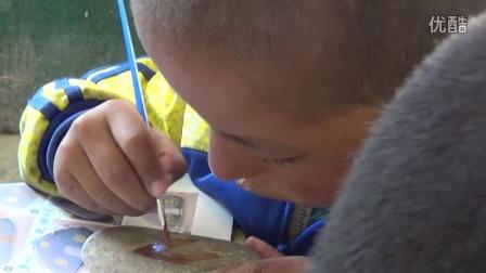 20160802-2玉树多多小学志愿服务活动-石头彩绘
