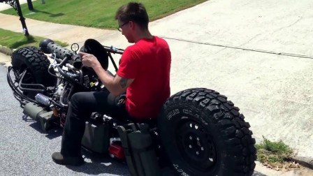 Test Drive of AWD Hydrostatic Diesel Motorcycle.