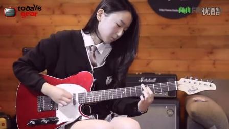 韩国 女吉他手 just funky chicken
