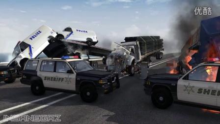 BeamNG模拟汽车卡车警车碰撞测试
