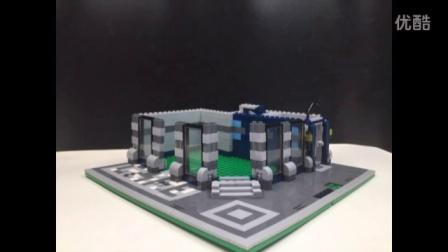 乐睿玩具乐高lego式拼插益智积木实拼实拍乐拼lepin街景系列之转角咖啡馆15002