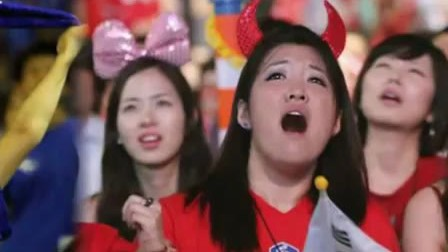 日韩美女球迷激情PK