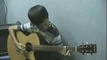 FD吉他教室十岁吉他手翻弹押尾桑《风の诗》