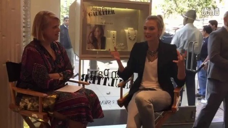 Karlie chatted with The Hollywood Reporter's Senior Fashion Editor: Booth Moore