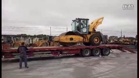 二手徐工20吨压路机装车视频