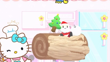 hello kitty制作圣诞蛋糕游戏 凯蒂猫的童话故事