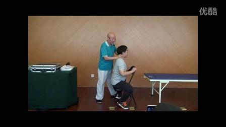 中医教学-李茂发达摩108法之老师演示颈椎曲度调整手法