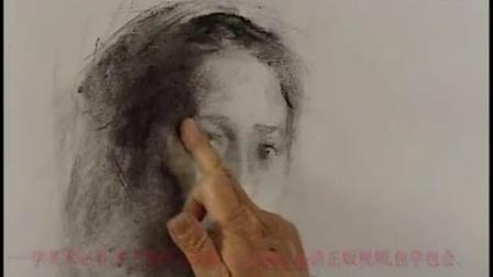 人物肖像画素描教程素描肖像造型技巧素描女青年肖像的步骤