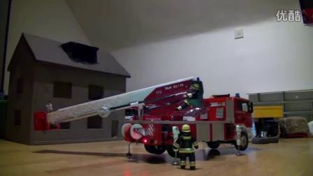 RCNOW.NET 遥控模型RC 遥控救火车云梯操作视频6