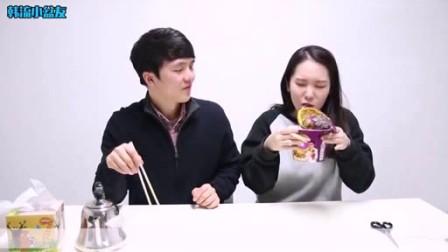 韩国人吃中国泡面的反应