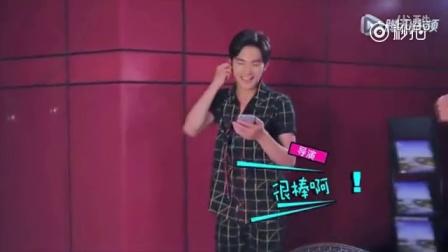 杨洋录制#快乐大本营# 的一段唱歌花絮!偶像包袱碎一地