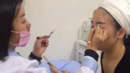 武汉皇后美肌半永久皮肤管理系列培训纹绣视频教学案例(八)