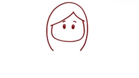 儿童简笔画 长发女孩  学前教育资源网