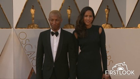 Pharrell Williams arrives at the 2016 Oscars in Hollywood
